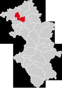 Dekanat Świebodzice położenie na mapie diecezji