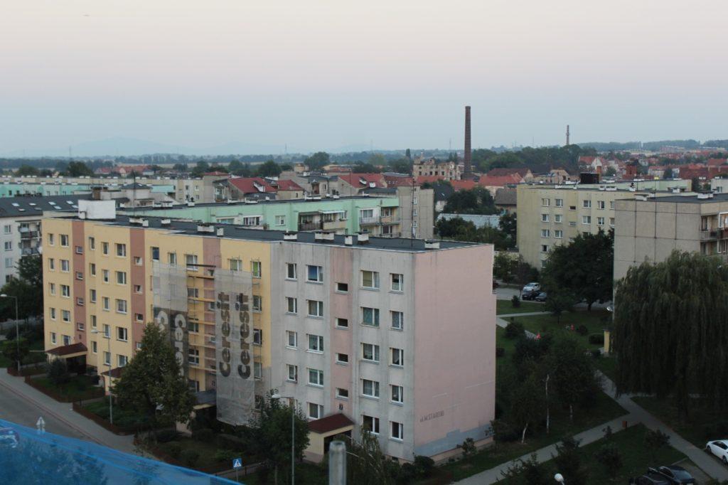 Widok z wieży kościoła, parafia Św. Brata Alberta w Świebodzicach
