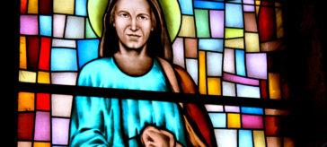 Św. Jan Apostoł, witraż, Św. Brat Albert Świebodzice