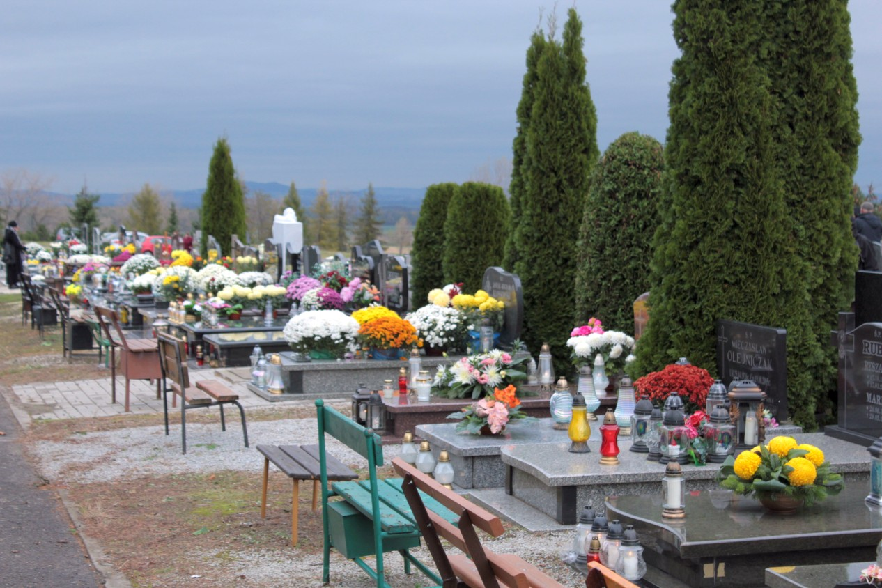 Cmentarz Wszyskich Świętych 1 listopada Świebodzice