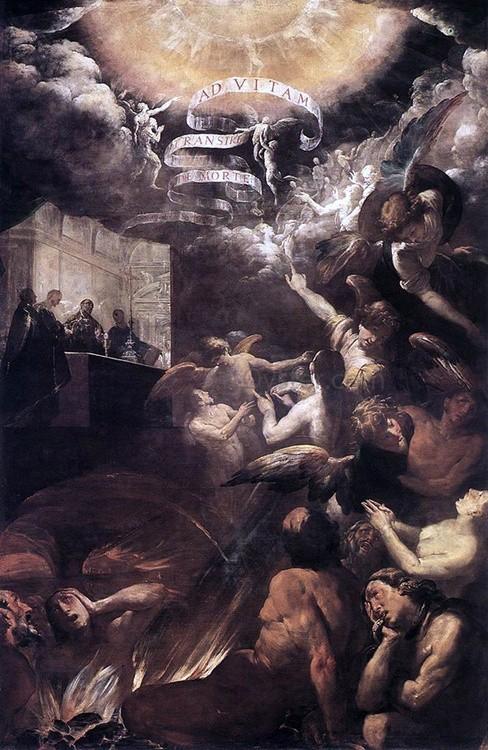 """Giovanni Battista Crespi, """"Św. Grzegorz Wielki wprowadza do nieba duszę mnicha"""